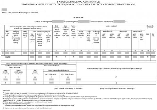Interaktywna Ewidencja banderol podatkowych prowadzona przez podmioty obowiązane do oznaczania wyrobów akcyzowych banderolami