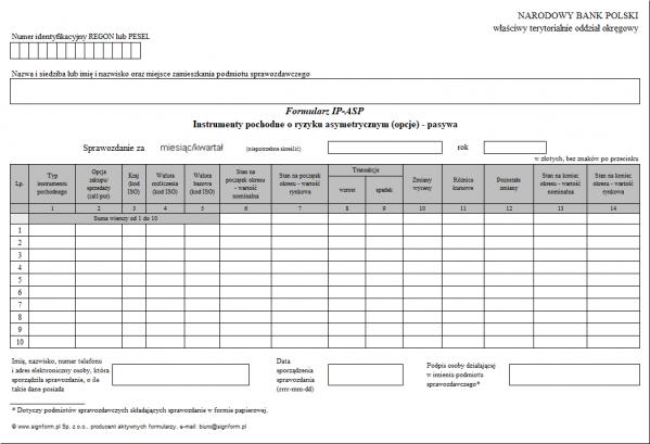 Formularz IP-ASP